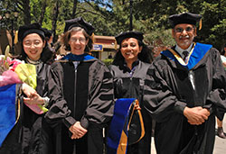 Graduates with Faculty Members