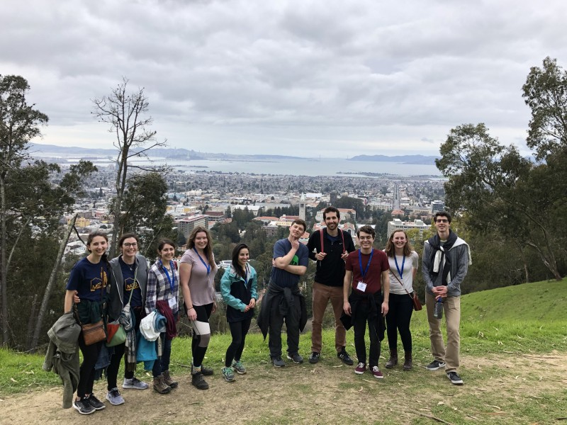 Prospective students took in the view of the Bay at Recruitment 2019