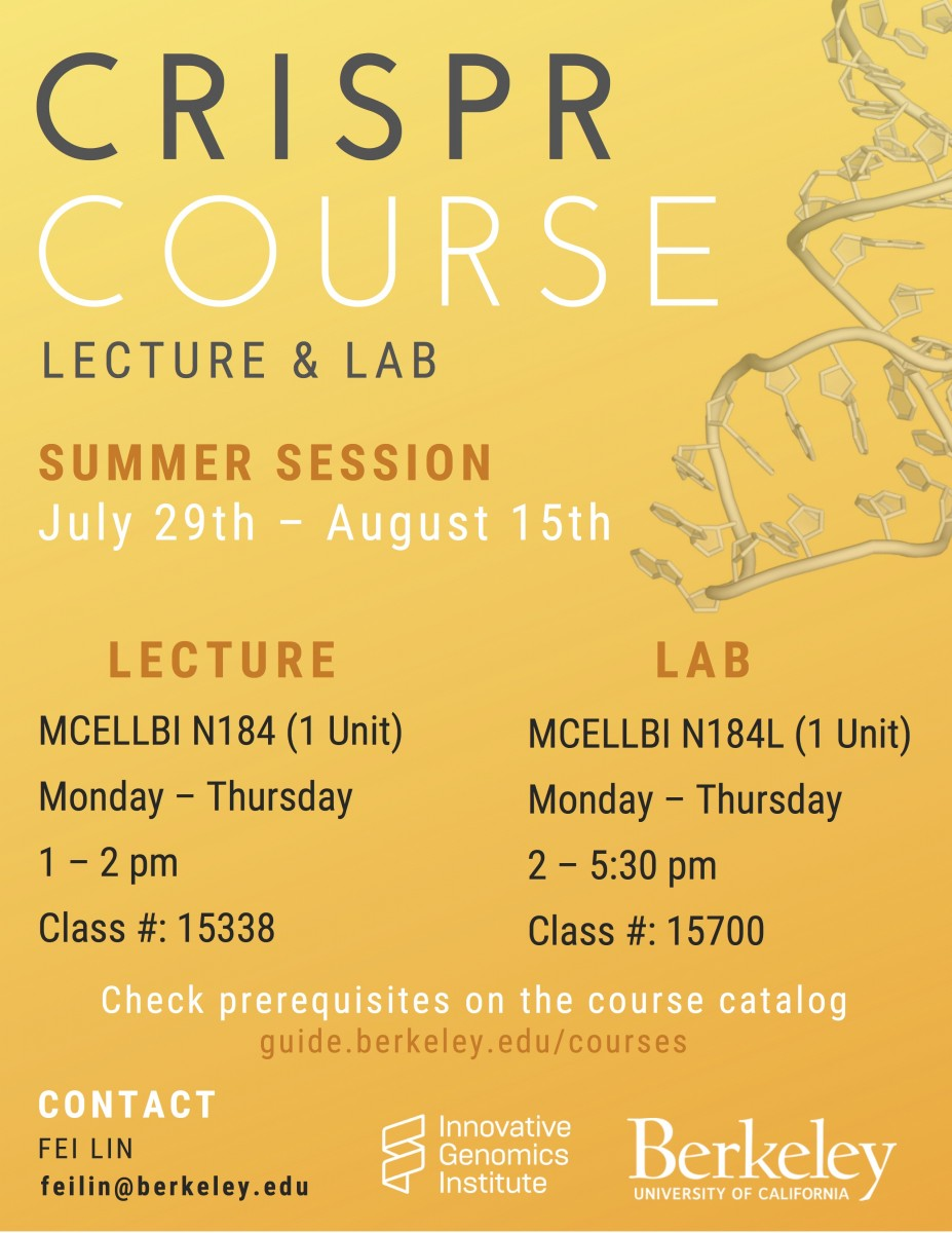 CRISPR Summer 2019 course flyer