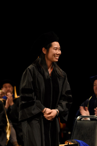 Jingxun Chen gave the student address at Commencement 2019