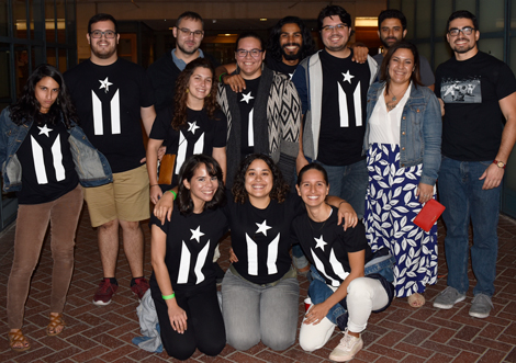 UCB graduate student group Boricuras relief fund-raiser
